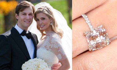 ivanka trumps engagement ring - Melania Trump Wedding Ring