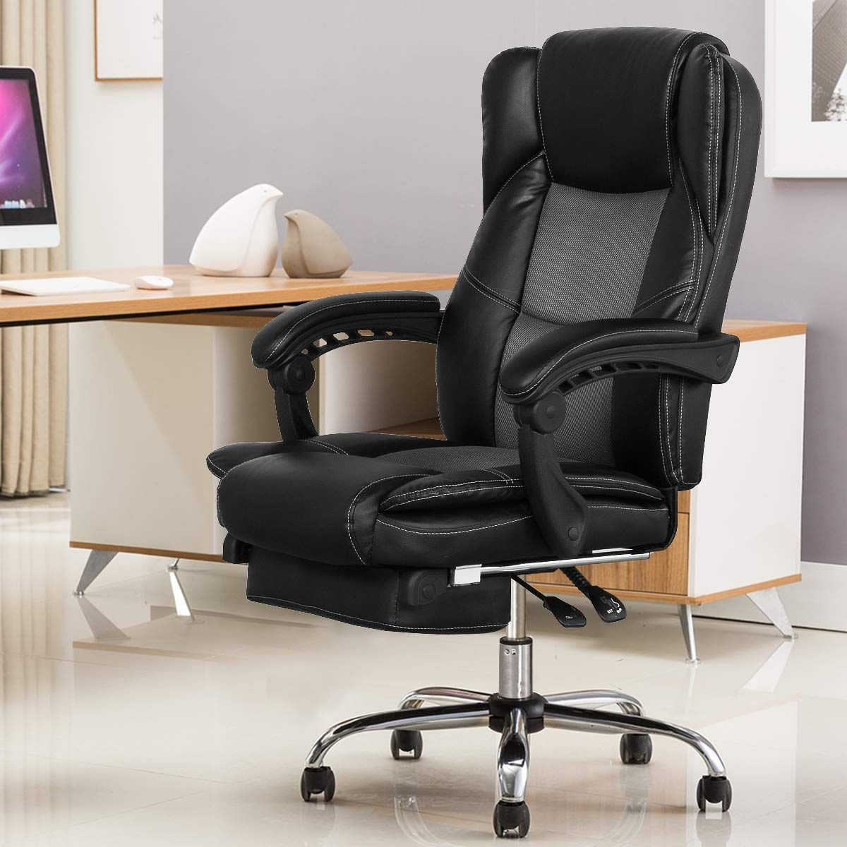 B2c2b Ergonomic Reclining Office Chair High Back Napping Desk Chair Computer Chair Leather Chai Luxury Office Chairs Reclining Office Chair Office Chair Design