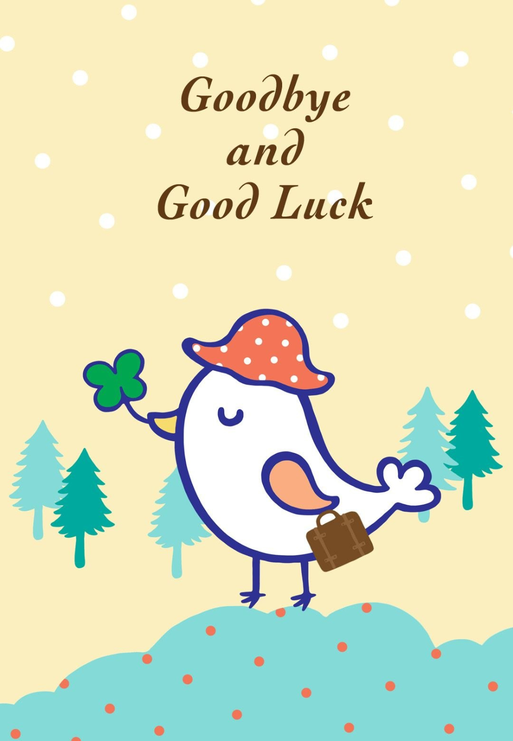 Free Printable Goodbye And Good Luck Greeting Card Littlestar With Farewell Card Template Word 10 Profes Goodbye And Good Luck Goodbye Cards Good Luck Cards