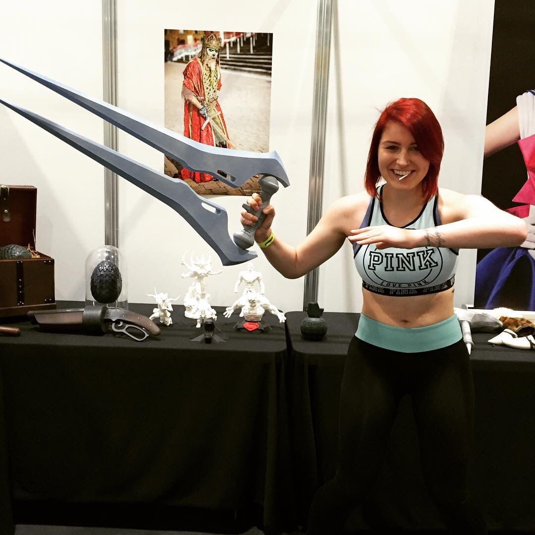 3D printed halo energy sword.  -Forg3d props