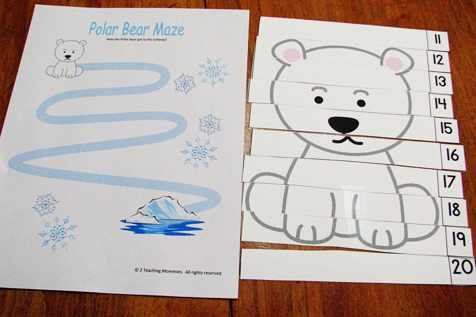 Polar Bear Activities For Preschoolers