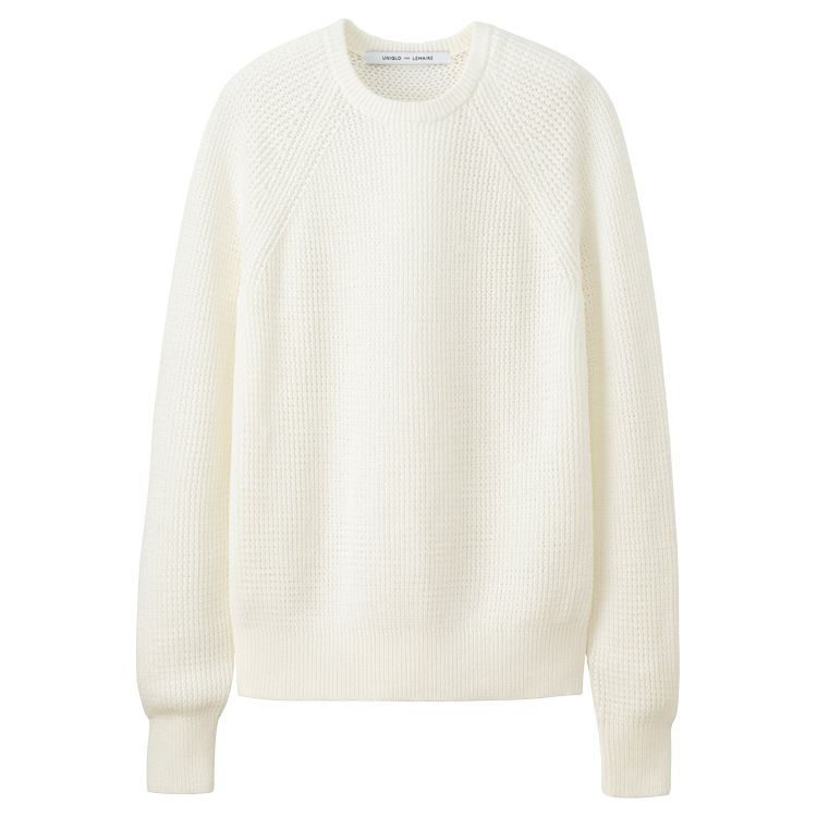 MEN LEMAIRE Supima Cotton Mesh Crew Neck L/S Sweater ...