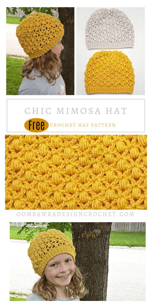 Chic Mimosa Hat Free Crochet Pattern Childrens Hats Pinterest