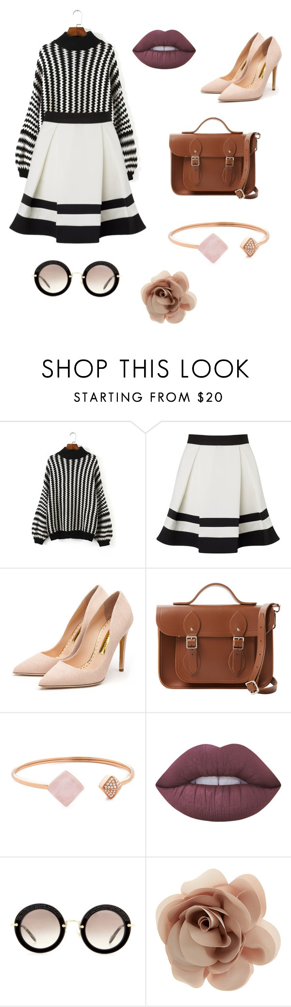 """Flashback"" by inordlund ❤ liked on Polyvore featuring Lipsy, Rupert Sanderson, The Cambridge Satchel Company, Michael Kors, Lime Crime, Miu Miu and Accessorize"