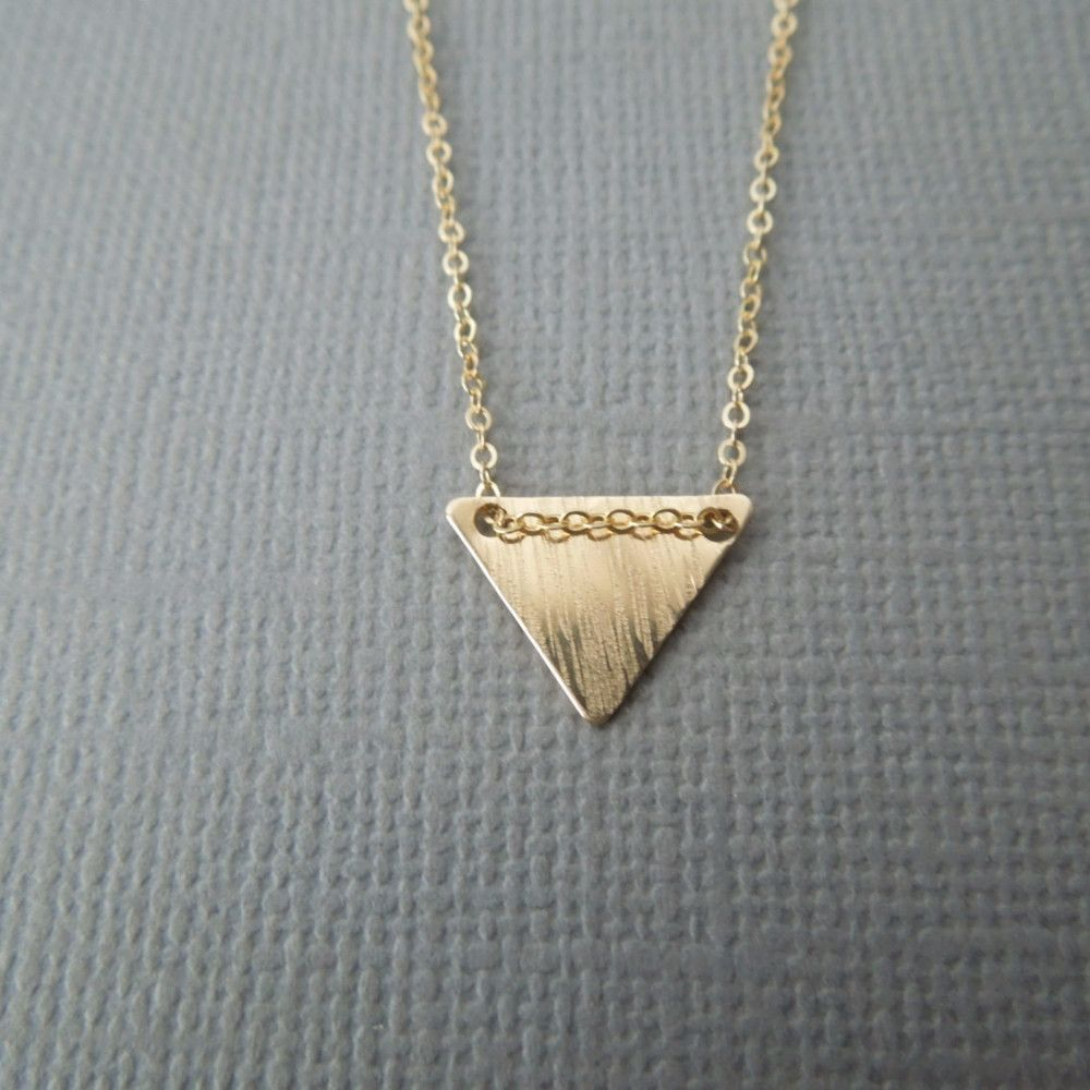 Geometric Gold Triangle Necklace