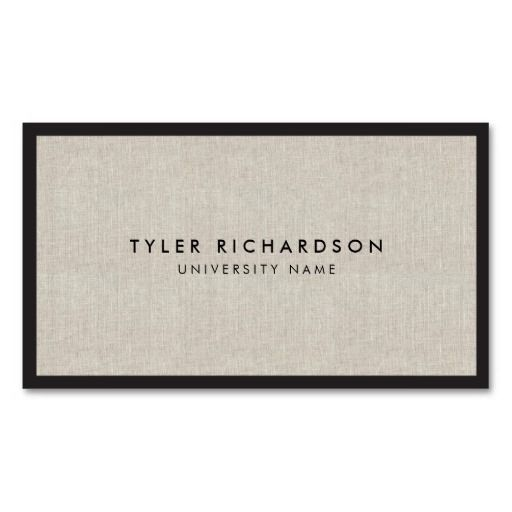 Professional New Graduate Student Business Card Zazzle Com Student Business Cards Linen Business Cards Examples Of Business Cards