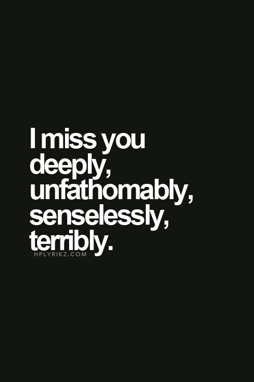 missing your wife