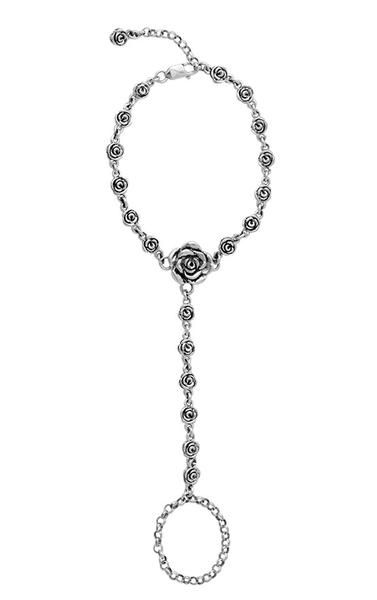 Hand Chain with Rose Motif
