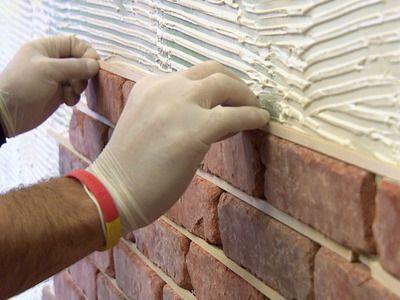 DIY Faux Stone Wall (aka The Best Thing Ever). Brick InteriorInterior ...
