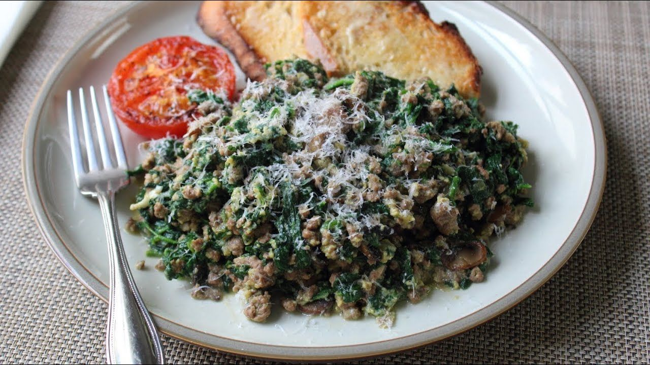 Joe S Special Original Joe S Ground Beef Spinach Scramble Youtube Ground Beef And Spinach Food Wishes Ground Beef