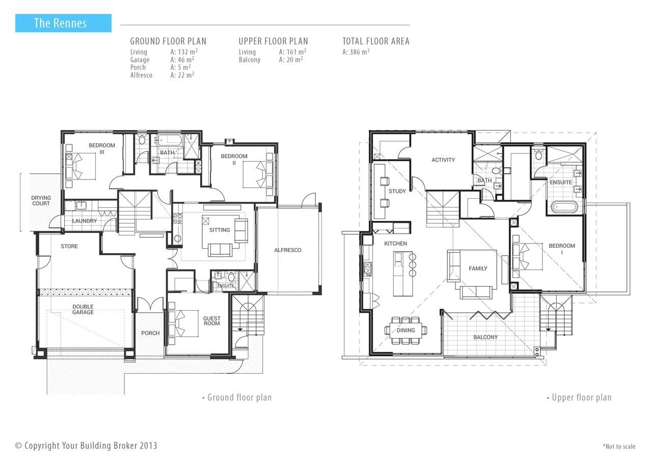 Reverse living house plans perth house plans Reverse living home plans
