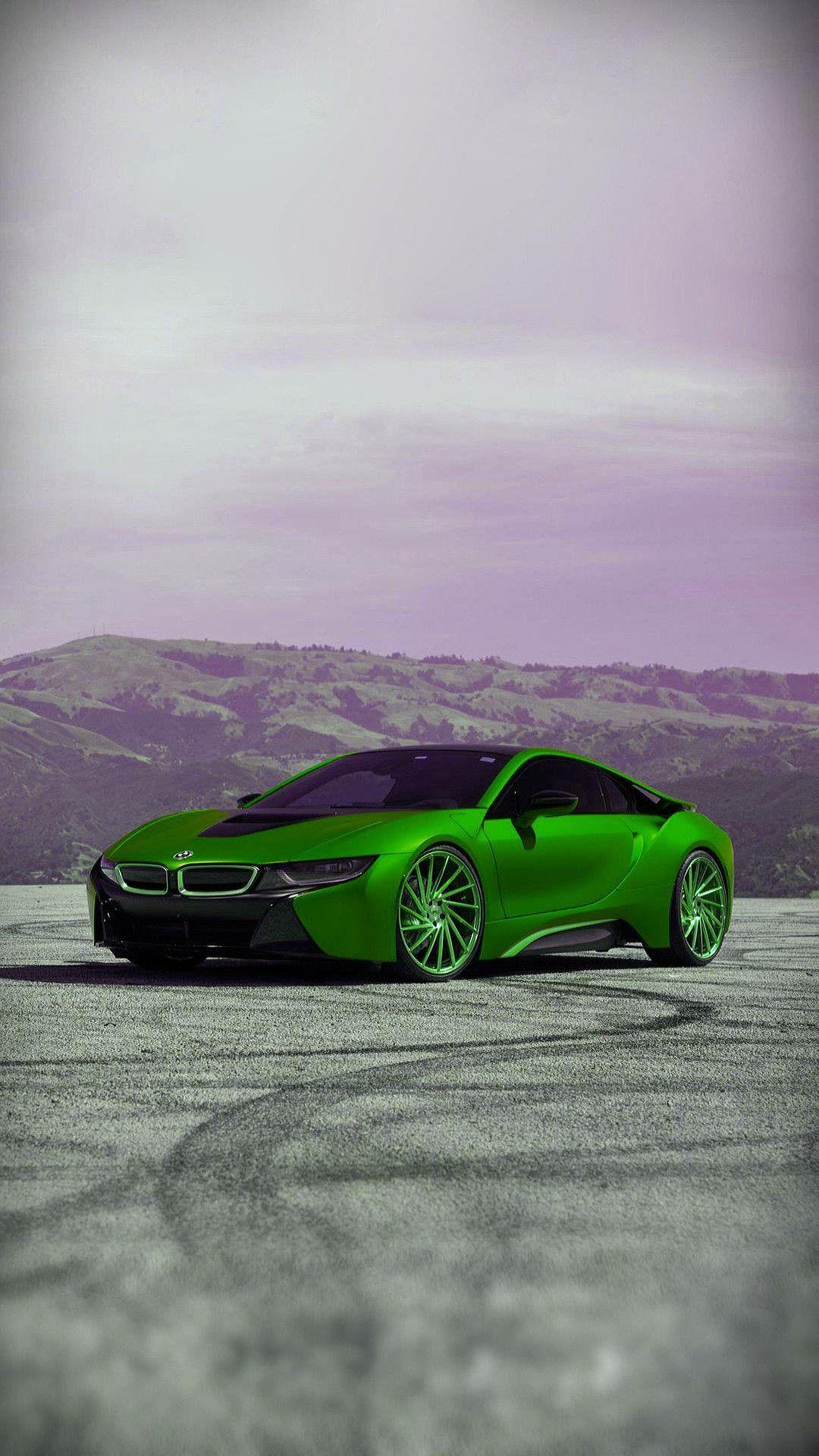 Green Car Luxury Cars Fast Cars Bmw I8