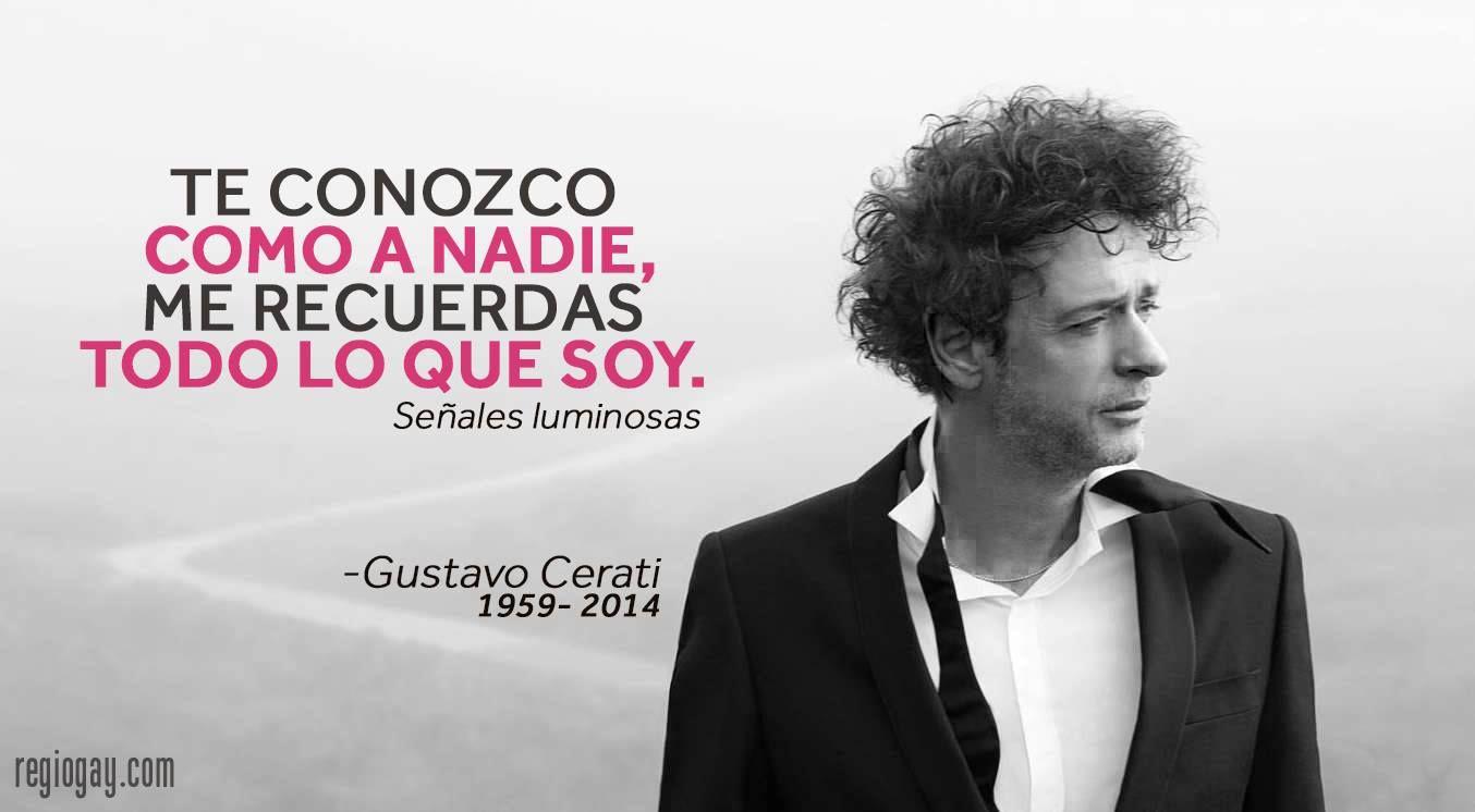 Hoy 4 de septiembre fallece también el Cantante, Compositor y Productor  y quién fuera el líder de la Banda Soda Stereo, Descanse en Paz Gustavo Cerati.