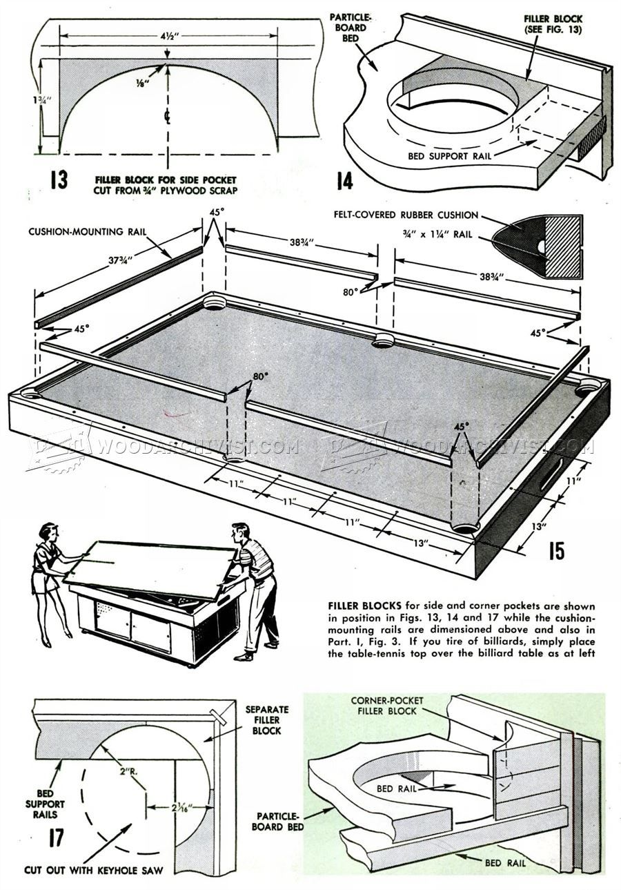 3070 Diy Pool Table Woodworking Plans Meubles Diy