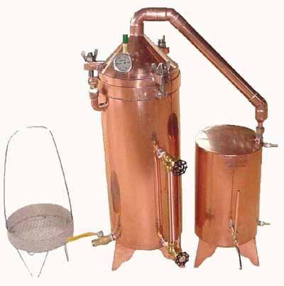 7.5 gallon copper essential oil distillation equipment