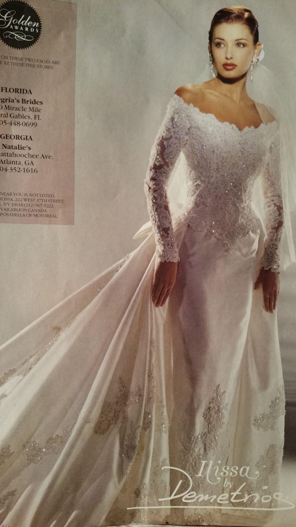Demetrios 1995 90s Wedding Dress Wedding Gowns Vintage Kleinfeld Bridal
