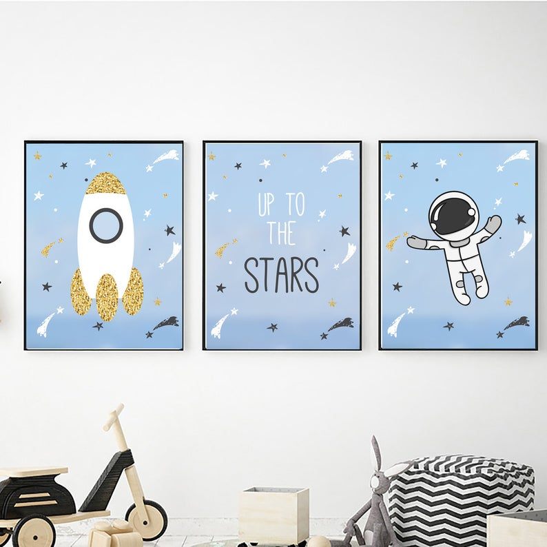 Outer Space Wall Art Digital Download Outer Space Decor Space