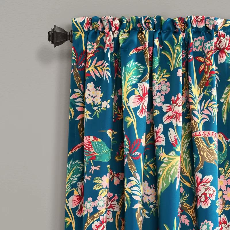 Panagia Floral Room Darkening Thermal Rod Pocket Curtain Panels Reviews Joss Main Lush Decor Curtains Floral Room