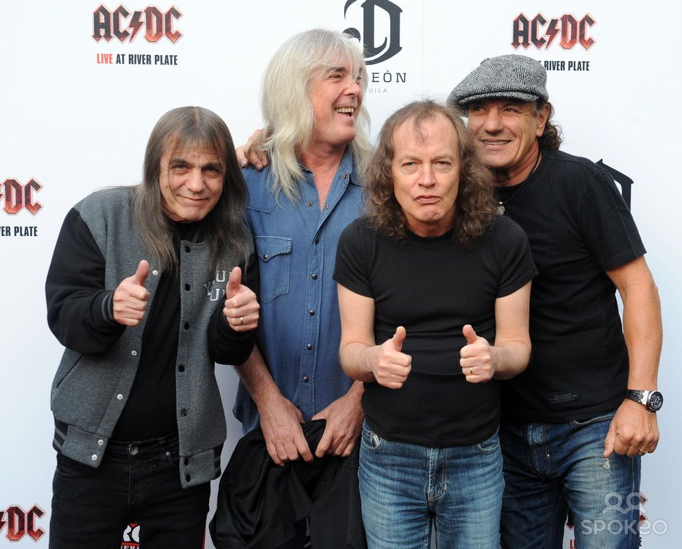 malcolm young cliff williams angus young and brian johnson of ac malcolm young cliff williams angus young and brian johnson of ac dc premiere