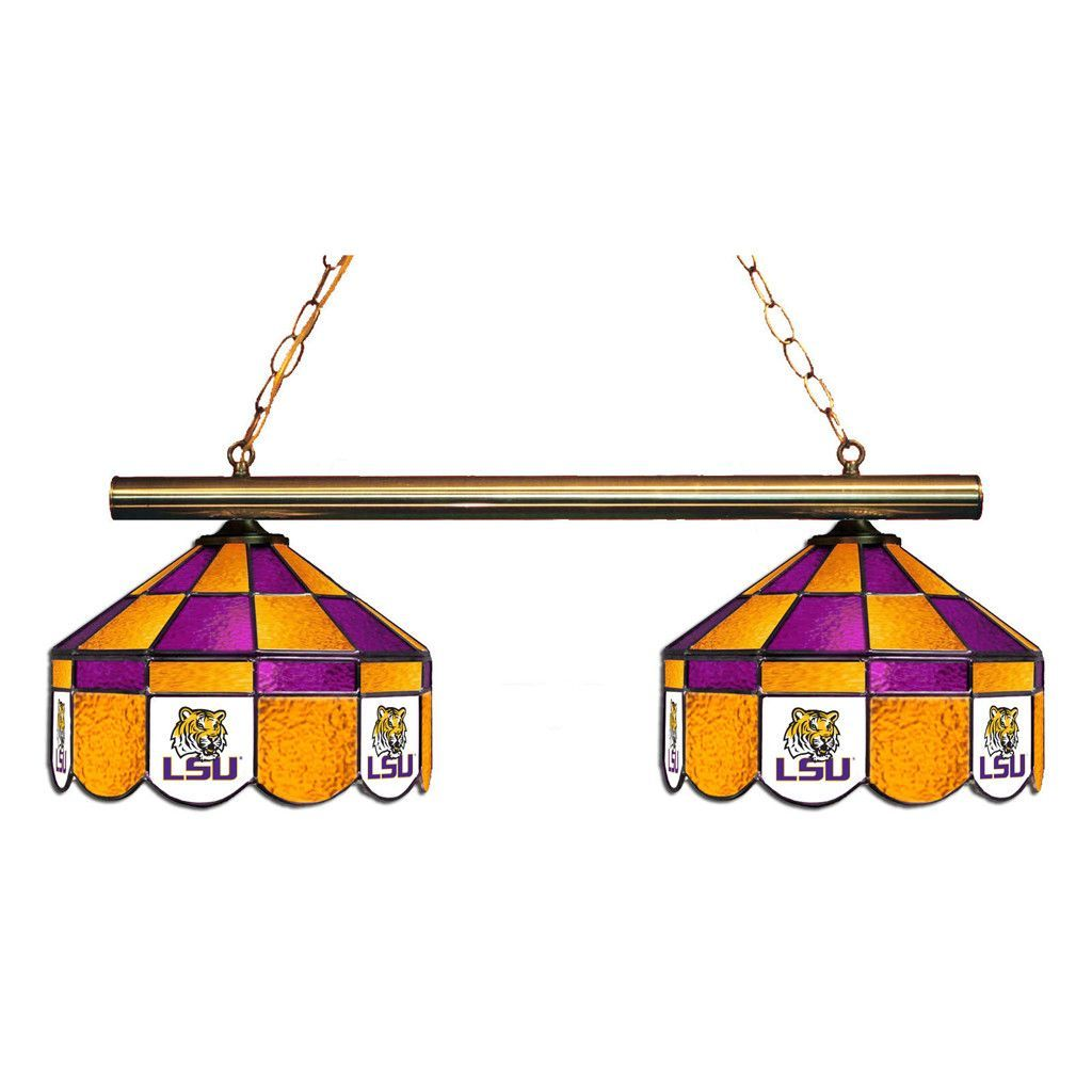 LSU Tigers Executive 2 Lamp Chandelier