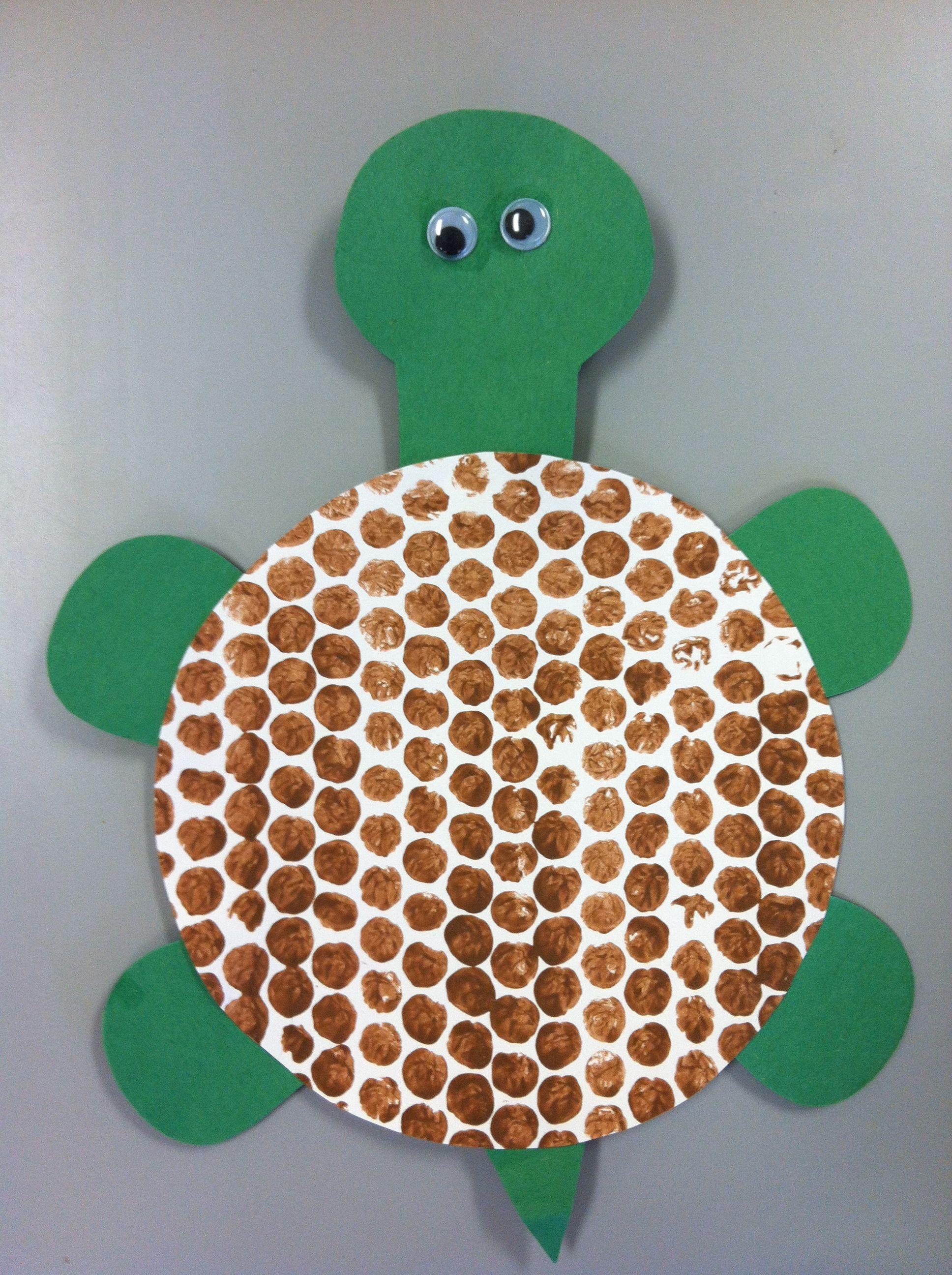 Bubble Wrap Painting Turtle Shell Turtle Preschool Art