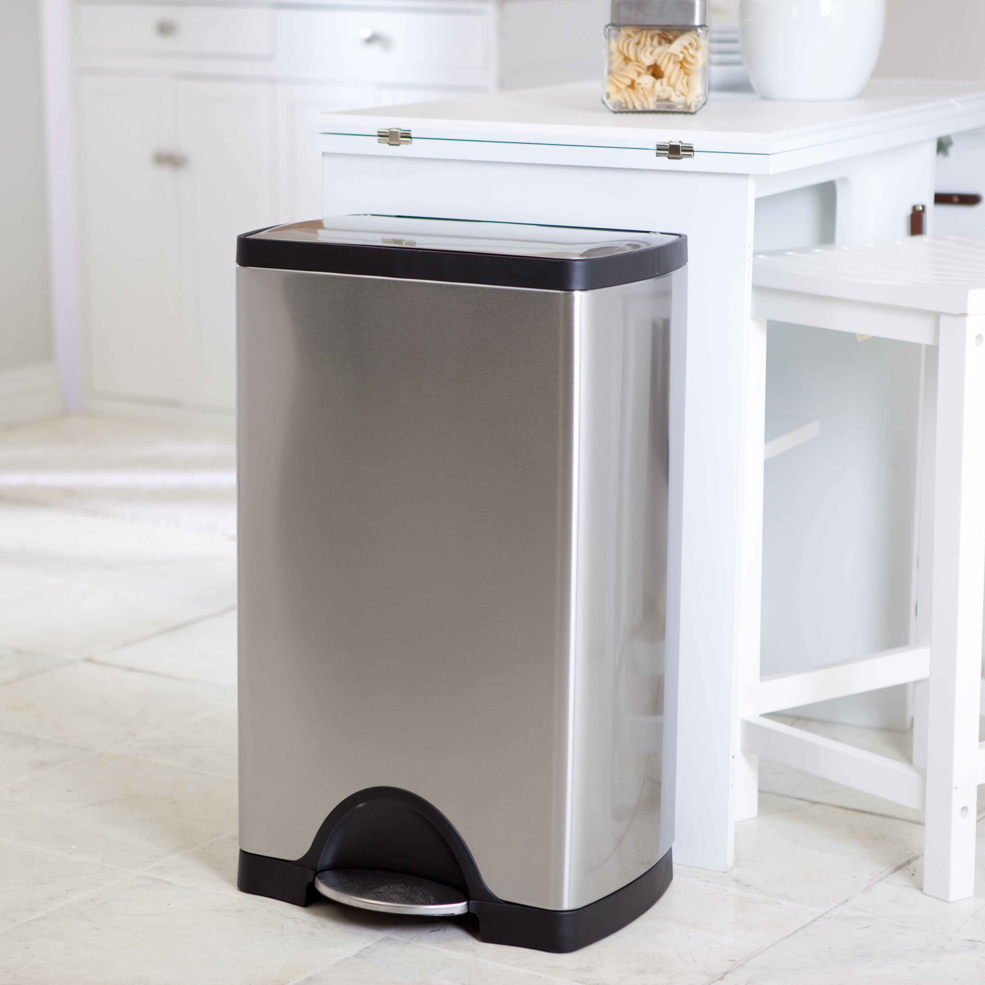 simplehuman® Rectangle Step Trash Can-Brushed Stainless ...