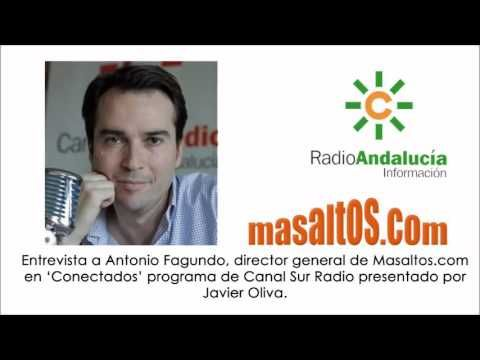 Entrevista a Antonio Fagundo, director de Masaltos.com en el programa 'Conectados' de Canal Sur Radio Andalucía, presentado por Javier Oliva.  @masaltos #masaltos #ecommerce #comercioelectrónico #casoéxito #ventaonline