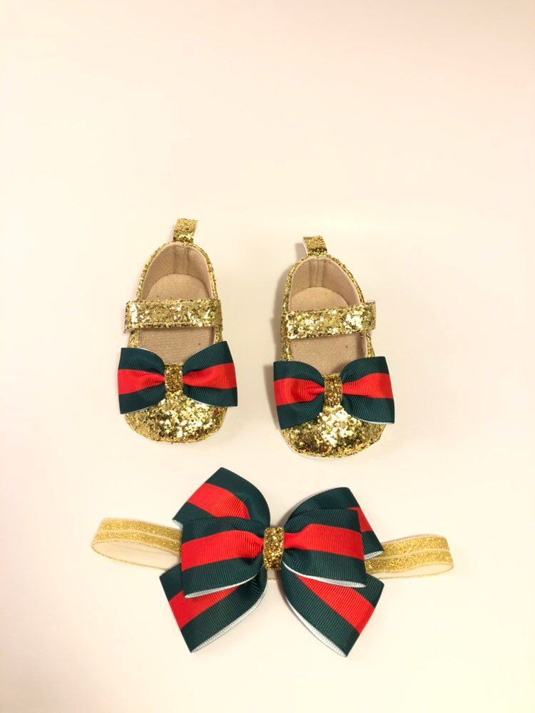 41d8c527cc2 Excited to share this item from my  etsy shop  Baby Gucci inspired shoes  and headband