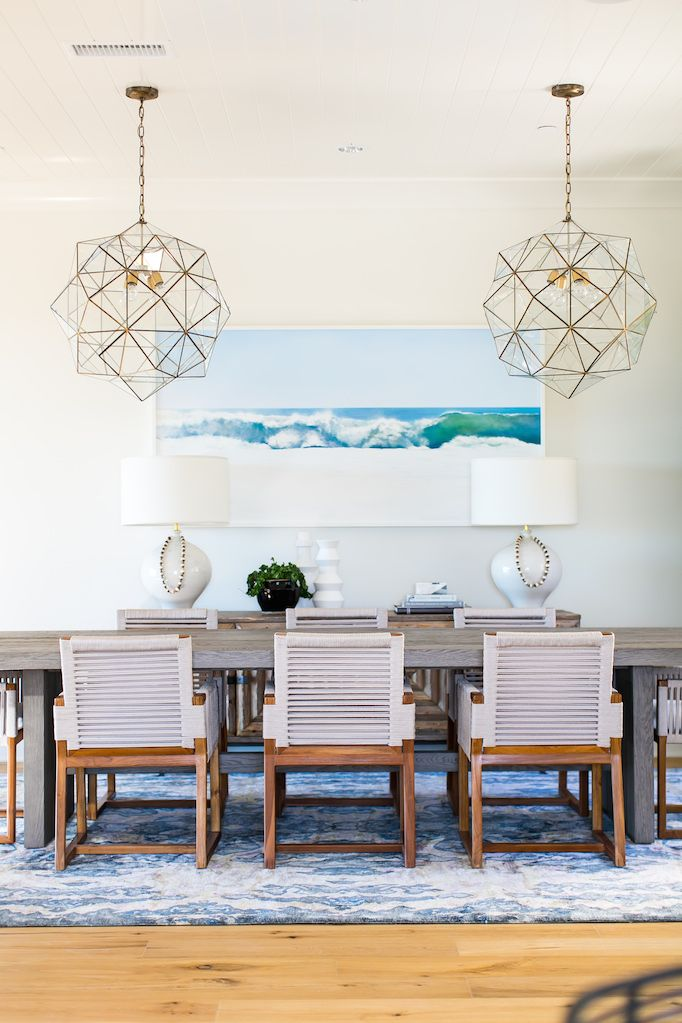 Estillo Project Modern Coastal Dining Roombecki Owens Coastal