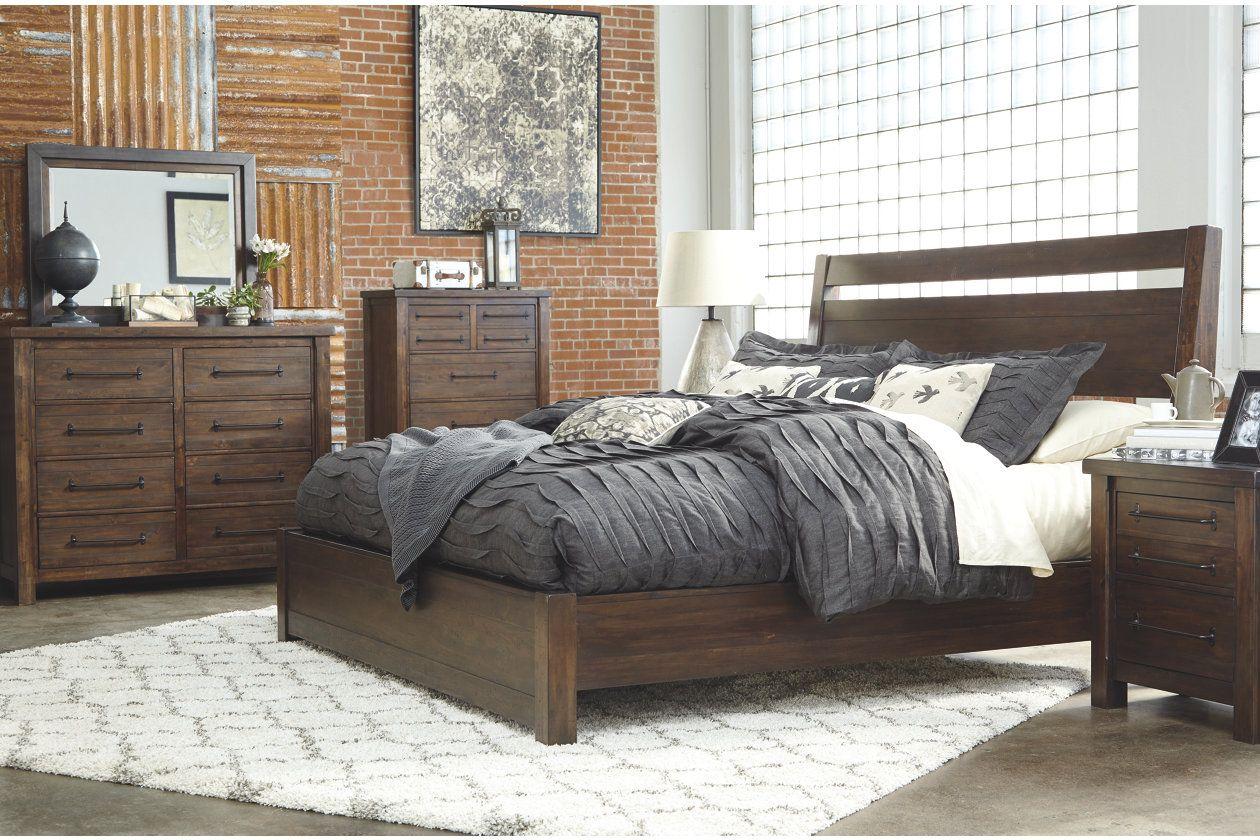 Starmore 5 Piece King Master Bedroom Ashley Furniture Homestore Brown Furniture Bedroom Brown Bed Frame Wood Bedroom Sets