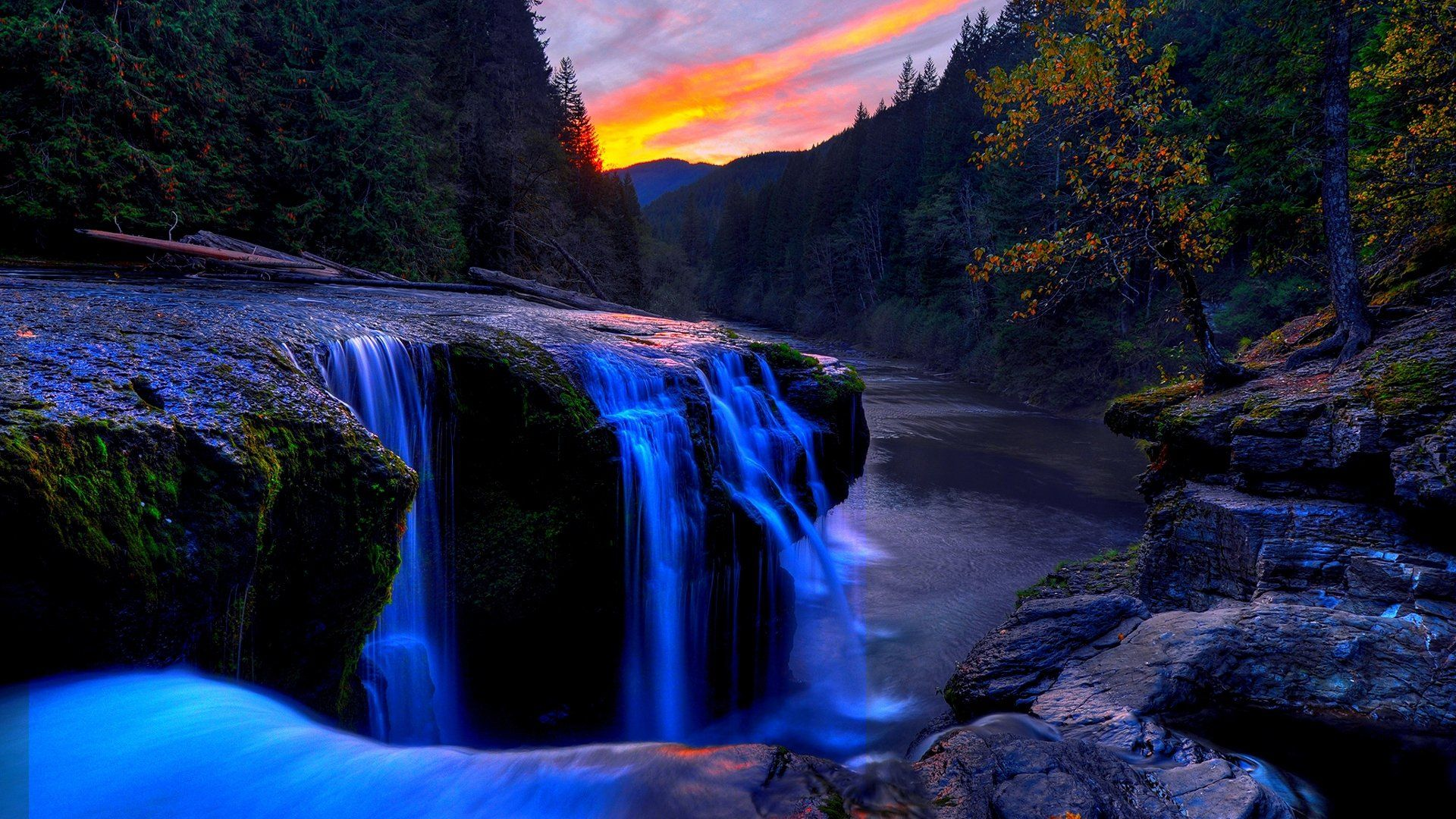 Beautiful Waterfall Hd Wallpaper Nature Wallpapers Chainimage Waterfall Wallpaper Waterfall Mountain Waterfall