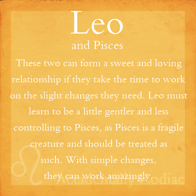 Pisces and leo compatibility relationship