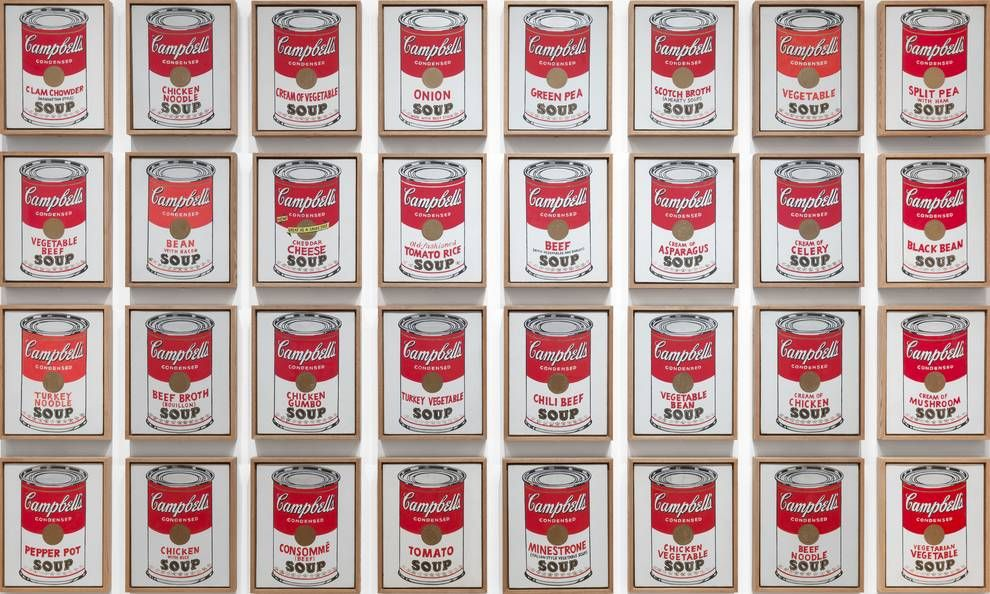 Andy Warhol Campbell S Soup Cans 1962 Moma Campbell S Soup Cans Andy Warhol Artwork Andy Warhol Soup Cans