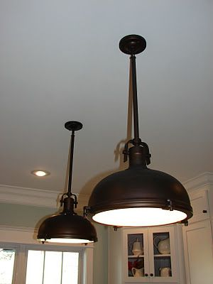 Oil Rubbed Bronze Industrial Pendant Allen Roth A