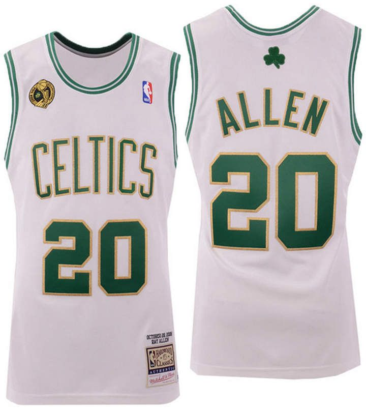 free shipping c8ee6 16569 Men's Ray Allen Boston Celtics Authentic Jersey in 2019 ...