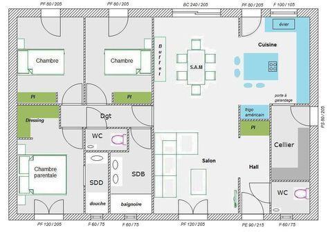 Plan maison plain pied 100m2 - votre avis (87 messages - plan maison plain pied  chambres  bureau