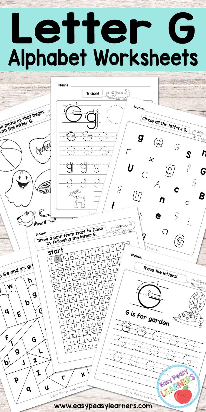 Free Printable Letter G Worksheets Alphabet Worksheets Series