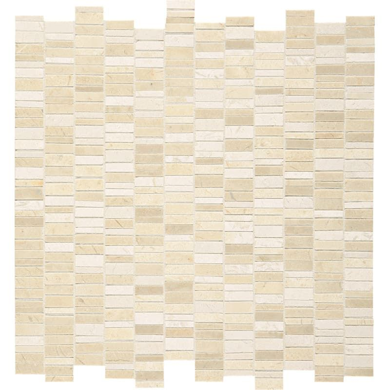 Stone Wall Accent Crema Marfil Floor: Daltile M1RANDMSP Marble Collection
