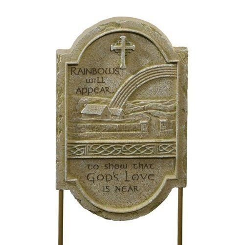 Irish Blessing Celtic Garden Stone-God's Love  Price : $21.50 http://www.biddymurphy.com/Irish-Blessing-Celtic-Garden-Stone-Gods/dp/B00A7UE16C