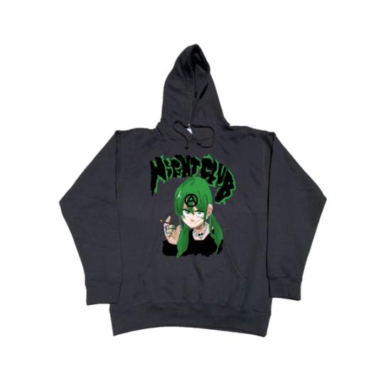 Jun Inagawa X Nightclub Anarchy Hoodie Grey Hoodies Grey Hoodie Sweatshirts