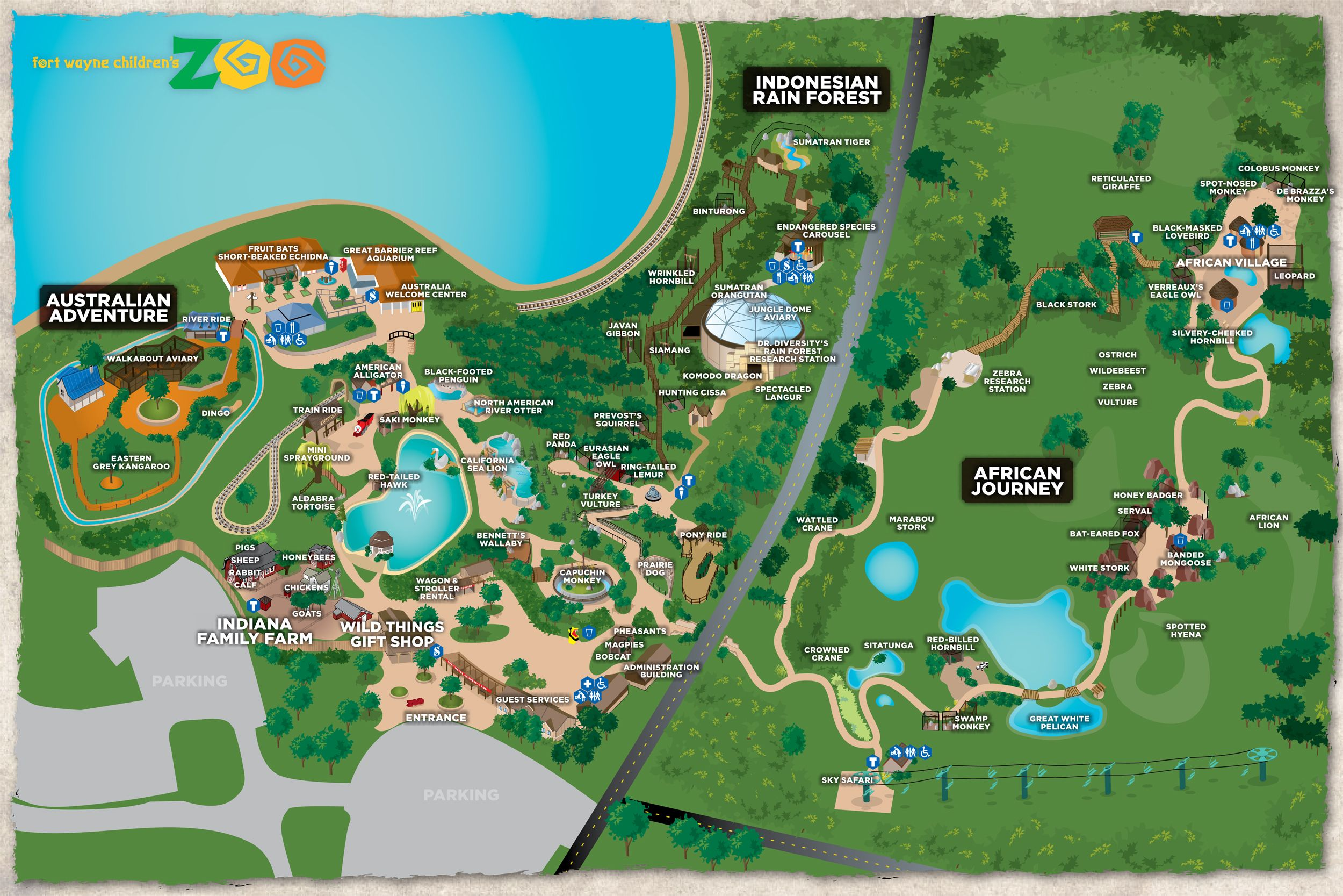 Fort Wayne Children\'s Zoo Interactive Map | All about K | Pinterest ...