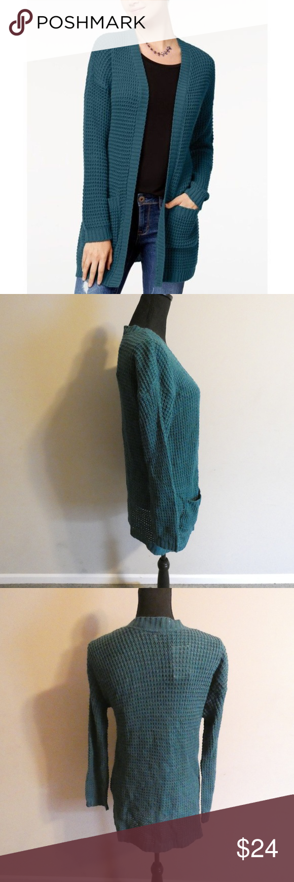 Green DropShoulder Cardigan Brand new with tag No closure
