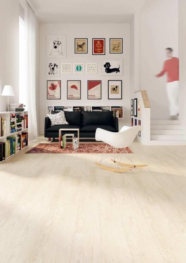 Bodenbelag - Naturboden im Wohnzimmer DLW luxury linoleum