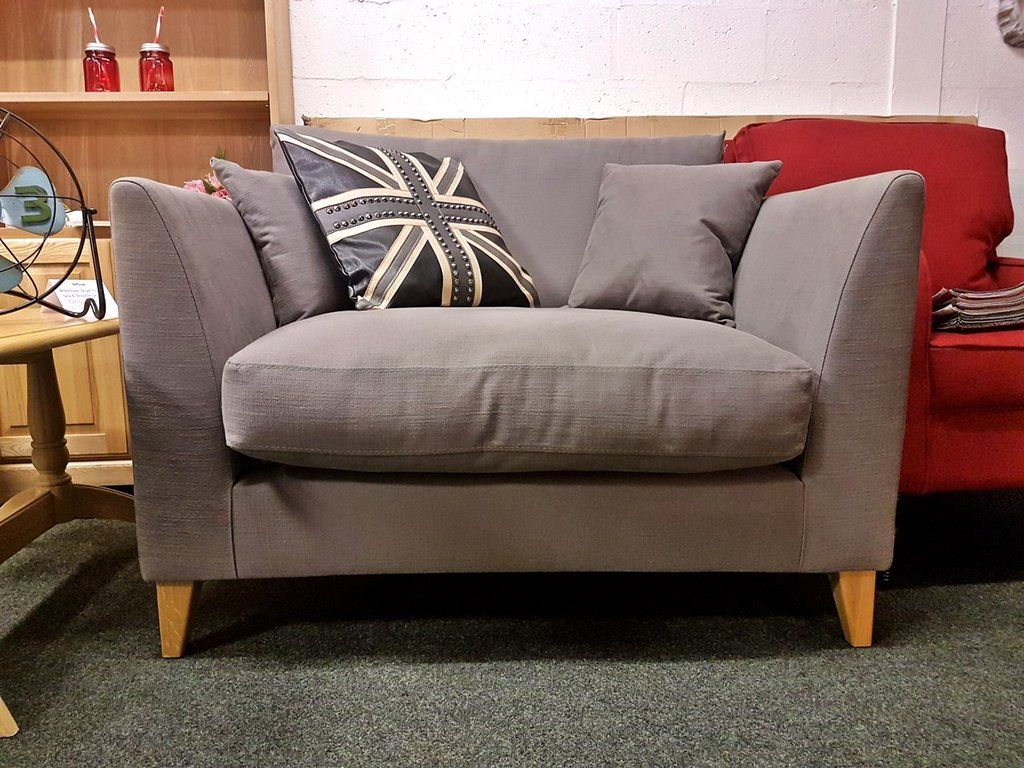 399 Furniture Store Debenhams Farringdon Grey Snuggler Loveseat Only 399 Rrp