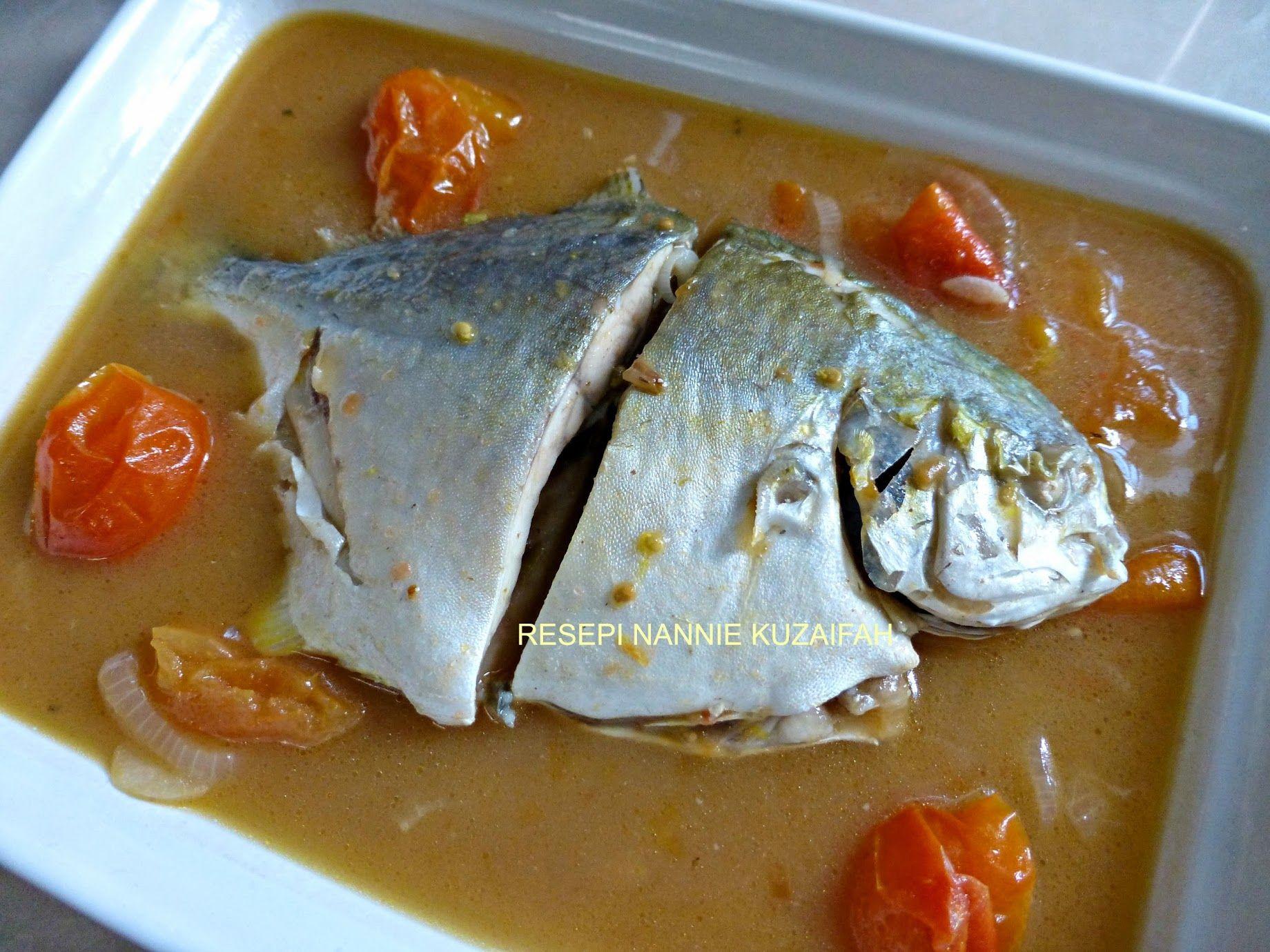 Resepi Nennie Khuzaifah Masak Rebus Ikan Bawal Emas Cooking Food Curry