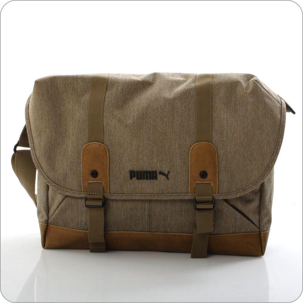 Stilvolle und modische Messenger Bag von Puma im Mix aus einem Canvas-Stoff und Kunstleder.