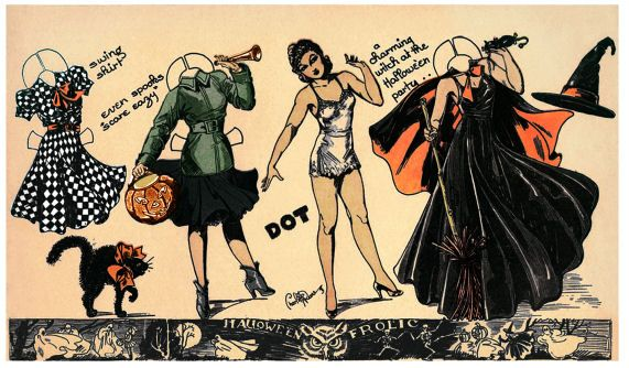 ALTERED ARTIFACTS: Free Halloween Party Witch Paper Doll My Halloween drafting has began!
