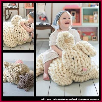 Giant Arm Knit Easter Bunny Free Pattern Free Pattern