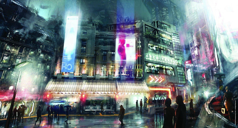 Japanese Cyberpunk City Anime Destkop Backgrounds Futuristic City Cyberpunk City Anime City