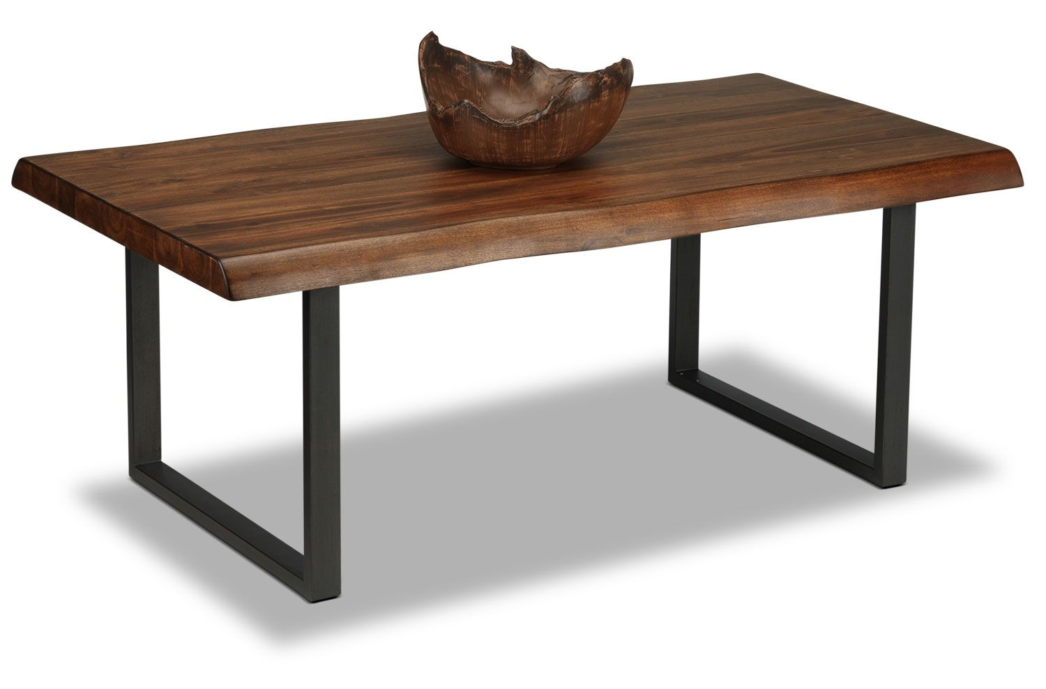 The Unique Graining Of The Acacia Wood In Walnut Of The Natura Coffee Table  Represents A Nod To Organic Sensibilities. The Rectangular Wood Tabletop Is  ...